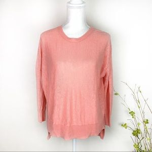 Eileen Fisher Salmon Coral Linen Sweater Petite S
